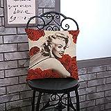 QIANGST Fodere per Cuscini Rosa Decorazioni per la casa Cuscino per Cuscino Decorativo per Auto Fodera per Cuscino Marilyn Decor Cojines C 18 Pollici
