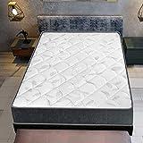 Luxury Letterie | Materasso per serenità 150 x 195 cm | molle insacchettate | schiuma ad alta densità | Indipendenza di letto | Sostegno molto stabile e durevole | 27 cm (+/-2 cm)