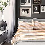 NuvolaNera Completo lenzuola stampato con cotone – per materassi fino a 25 cm. – 2 Piazze Matrimoniale - Lisbona Arancio