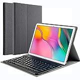 KILISON Samsung Galaxy Tab A 10.1 2019 T515/T510 Cover Tastiera Custodia, [QWERTY Layout] Wireless Keyboard Case per Samsung Tab A 10.1, Grigio