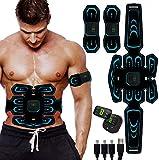 SHENGMI Elettrostimolatore Muscolare, EMS Suscolo Addominale, Addominali Attrezzi ABS, Addome/Braccio/Gambe/Waist/Glutei Massaggi-Attrezzi, USB Ricaricabile-Uomo/Donna