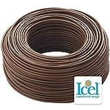 Cavo Icel Elettrico multipolare isolante per impianti elettrici e di tubazione cavo antincendio matassa da 100 metri (Tutor 3G x 1,5 (cavo fror))