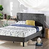 Zinus Shalini Struttura letto trapuntata con imbottitura / Letti Con Piattaforma/ Non sono necessarie le molle/ Supporto resistente in legno per letto/ Montaggio facile/ 80 x 190 cm