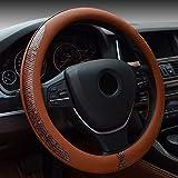Bauzeit Universal car Steering Wheel Covers 38,1cm/37–38cm schermo–resistente in microfibra antiscivolo Automotive di protezione per auto SUV veicoli camion Van, Uomo, Sugarpine Air Mesh - Donna