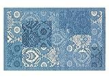 BIANCHERIAWEB Tappeto Velour Antiscivolo Modello Ghibli By Suardi 140x195 cm Azzurro