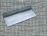 Rete Zanzariera in Fibra di Vetro 18X16 mm Altezza 120 cm Rotolo 30 mt Maurer