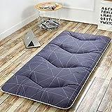 HAOLY Giapponese Addensare futon Tatami Cuscino Materasso,Bed Ground,Rilievo di Materasso Cuscino,Antiscivolo Dormire Cuscino Pieghevole Materasso-E 90x200cm(35x79inch)