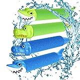 joylink Pistole ad Acqua, Giocattoli Pistole ad Acqua Pistole ad Acqua Schiuma Estate Pool Giochi per Ragazzi Ragazze Adulti (4pcs) (Due Colori)