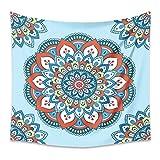 LZYMLG MTL08 - Arazzo da parete, motivo mandala indiano, da appendere alla parete, tappeto da spiaggia, materasso da viaggio, 100 x 150 cm