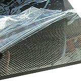 SOFIALXC 3K in fibra di carbonio piastra pannello foglio 100% fibra laminato piastra (pannello a trama normale, superficie liscia) - 250mmx250mm-6mm