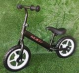 GT-LUX Balance Bike - Bici Senza Pedali, età dai 2 ai 5 Anni - Ruote da 12 Pollici - Nero, Blu, Rosso (Nero)