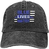 Blue Lives Materia Polizia Linea Blu Noi Bandiera Regolabile Sport Jeans Baseball Golf Cap Cappello Unisex Stile