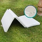 Materassino Futon Pieghevole SalvaSpazio Singolo 90x200 cm anche come pouf o letto di emergenza