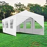 wolketon Gazebo 3x9m Impermeabile Gazebo Robusto Tenda per feste Commerciale Rifugio Istantaneo con 8 pareti Laterali Tenda Gazebo Campeggio Tendone per Feste Matrimoni, Bianco